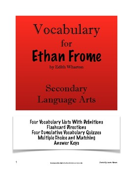 Ethan Frome - Vocabulary