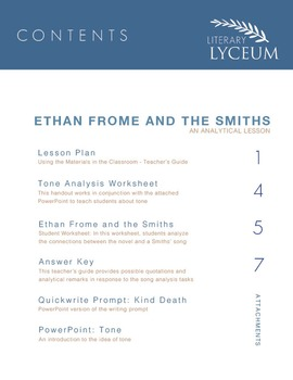 Ethan Frome and The Smiths Comparison