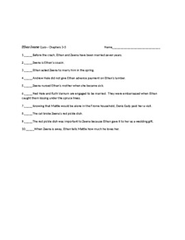 Ethan Frome by Edith Wharton Quizzes,Tests, Analysis, and Activities