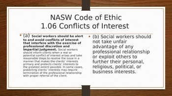Ethical Analysis Powerpoint NASW
