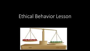Ethical Behavior Lesson
