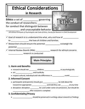 Ethical Considerations in Research
