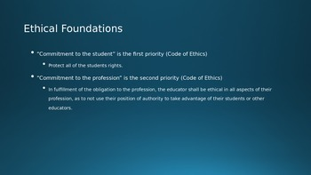 Ethical Foundations of Education