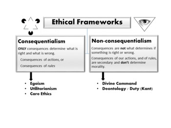 Ethical Frameworks / Theories by Hierarchy
