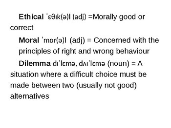 Ethical & Moral Dilemmas ESL Lesson