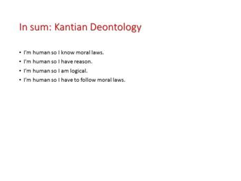 Ethics: Kantian Deontology, Categorical Imperative