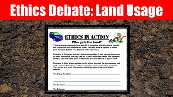 Ethics: Land Usage Debate Activity