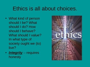 Ethics and Integrity Ppnt
