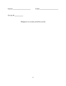 Ethics and Religious Culture student Interactive Notebook