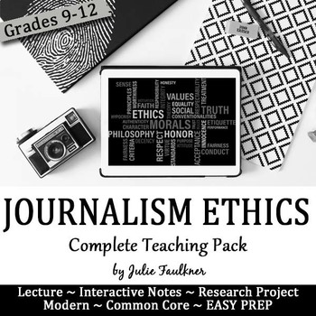 Ethics in Journalism, Yearbook, Complete Teaching Pack