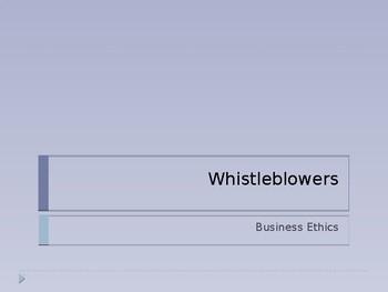 Ethics of Whistleblowing