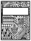 Ethnic Binder Covers and Spines, Coloring Pages Back to School Distance Learning