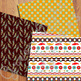Ethnic Digital Papers / Boho Backgrounds / Boho Papers / Tribal Patterns