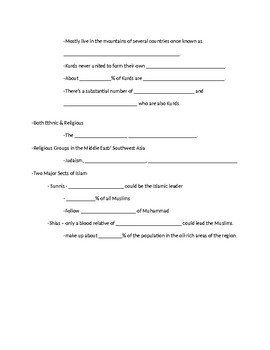 Ethnic VS Religious Groups