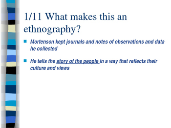 Ethnography Research Project Slides