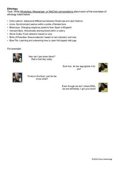 Ethology Examples Phone Conversations