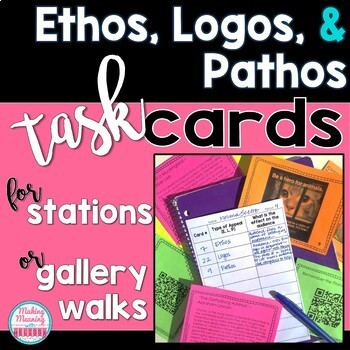 Ethos Logos Pathos Task Cards For Stations Or Gallery Walks Tpt