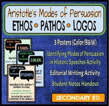 Ethos, Logos, Pathos (Aristotle's Modes of Persuasion)