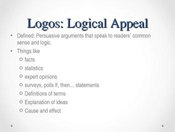 Ethos, Logos, Pathos Common Core Aligned