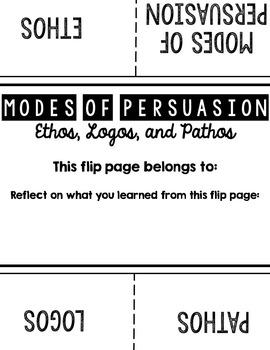 Ethos, Logos, Pathos One Page Foldable