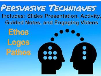 Ethos, Pathos, and Logos Rhetoric (Types of Arguments) Fun Activity w/ videos