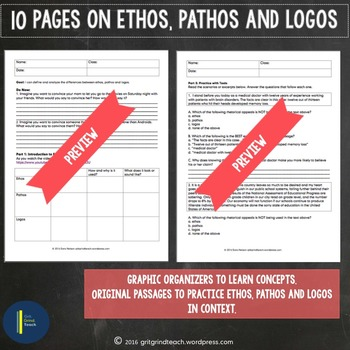 Ethos Pathos Logos Lesson Plan and Student Practice