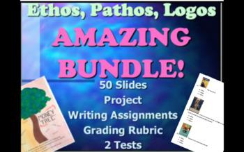 Ethos,Pathos,Logos Multimedia 5 Day Unit BUNDLE with Common Core Lesson Plans