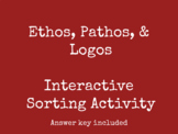 Ethos, Pathos, & Logos Interactive Sorting Activity