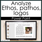 Ethos, Pathos, Logos:  PowerPoint for step-by-step analysi