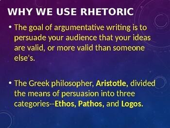 Ethos, Pathos, and Logos PowerPoint