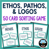 Ethos, Pathos, and Logos Rhetorical Appeals Sort : 50 Card Sorting Activity