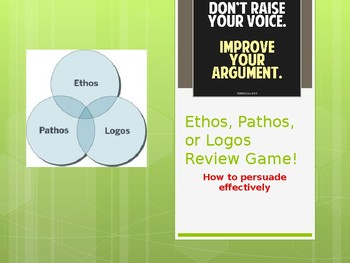 Ethos, Pathos, or Logos Game with advertisements (Rhetorical Appeals Game)
