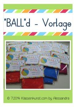"""Etikette Wasserball """"BALL""""d"""