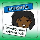 Etiopía - actividades para investigar sobre el país