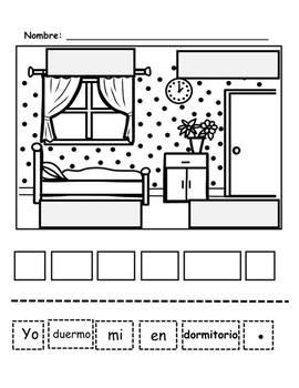 Etiquetar Dibujos, Organizar y Escribir Oraciones-Editables