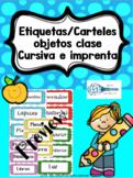 Etiquetas/carteles clase Español / Classroom labels