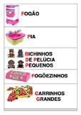 Etiquetas de organização de brinquedos