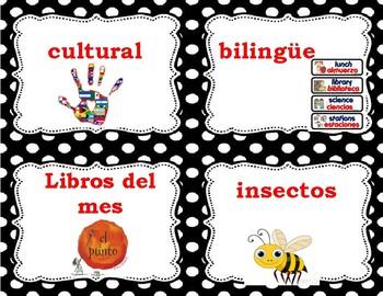 Etiquetas para Canastas de Libros