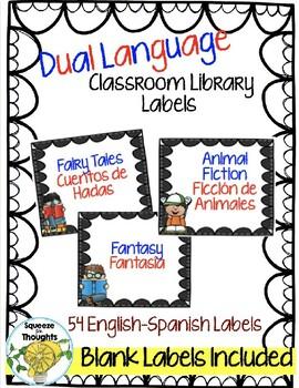 Etiquetas para la Biblioteca en Ingles y Español (Bilingual Library Labels)
