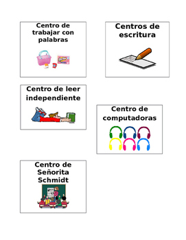 Etiquetas para los centros, Labels for centers