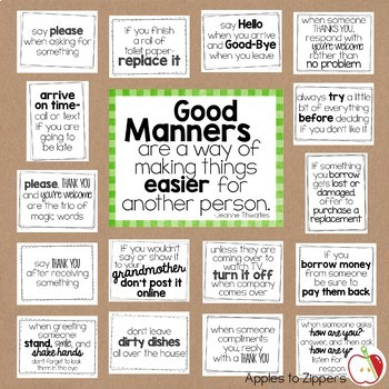 Manners Bulletin Board Kit (General)