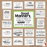 Manners Bulletin Board Kit (General)