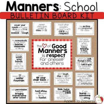 Manners Bulletin Board Kit (School)