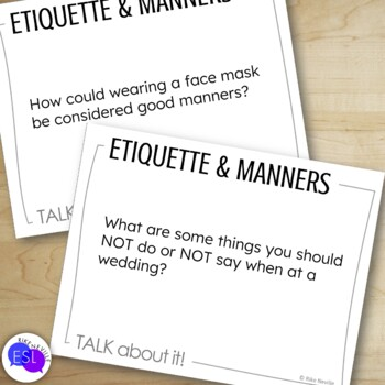 Etiquette and Manners: Discussion Topic Cards