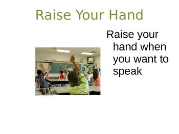 Etiquette Rules for the Classroom and School Community