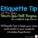 Etiquette Tip of the Day Bell Ringer/Warm Up