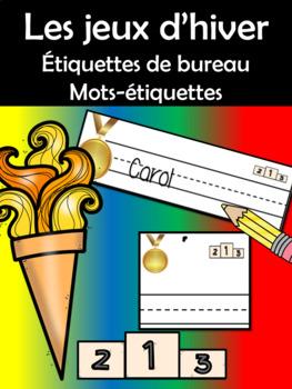 Étiquettes - Les jeux d'hiver (French FSL)