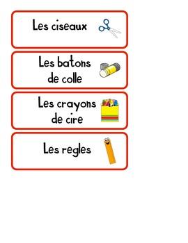 Étiquettes - Les objets de la salle de classe