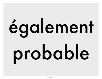 Affiches - Les probabilités qu'un événement se produise