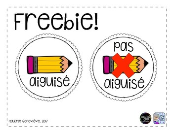 Étiquettes crayons